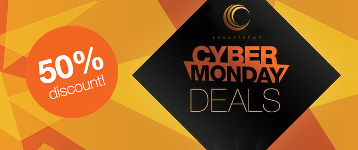 Lunar Theme Cyber Monday – Get 50% Off Any Purchase‎!
